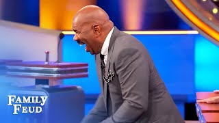 OMG! Contestant's answer DESTROYS Steve Harvey! | Family Feud