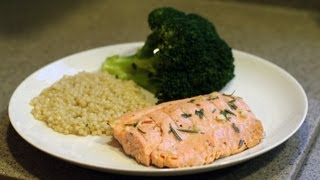 Livecookandeat.com- Lemon Garlic Rosemary Steelhead Trout