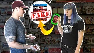 Selling Fake Copies Of Nba 2k20 To Gamestop!! Uh Oh