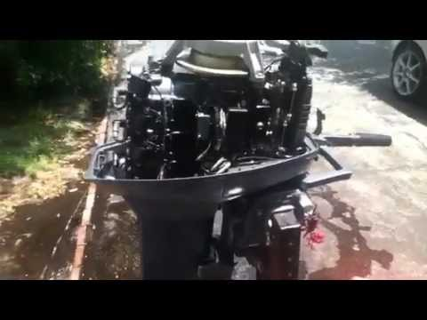 1998 yamaha 25hp 2 stroke tiller 3 cylinder outboard youtube for 25hp yamaha 2 stroke