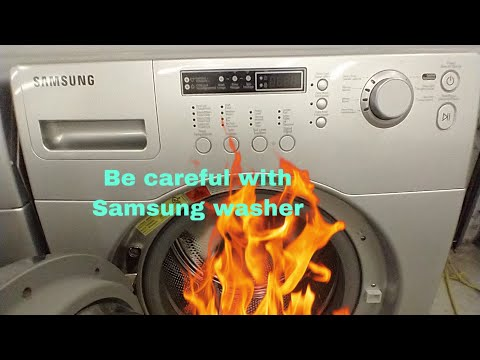 Samsung washer noisey and burning smell