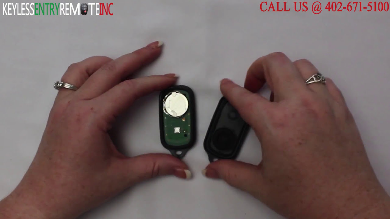 Toyota Corolla Battery >> How To Replace Toyota Corolla Key Fob Battery 2003 - 2008
