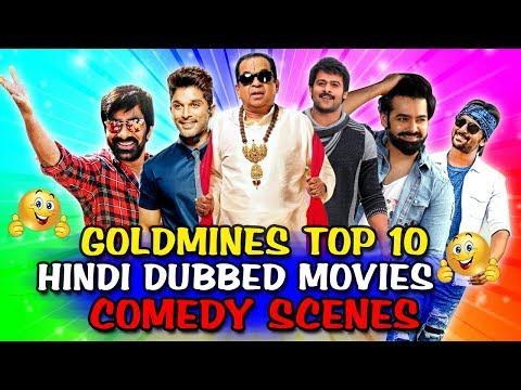 Goldmines Top 10 Hindi Dubbed Movies Comedy Scenes | South Indian Hindi Dubbed Best Comedy Scenes
