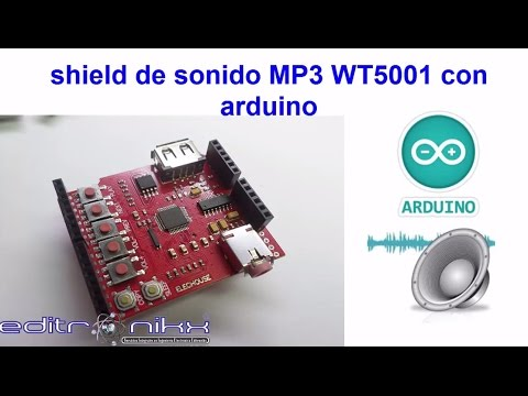 shield de audio MP3 WT5001 con arduino