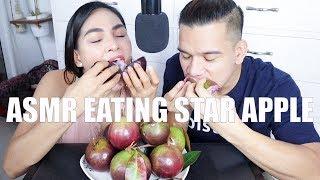 ASMR Eating Star Apple Fruit Mukbang
