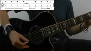 Slow it down - Amy Macdonald- Guitarlesson Tutorial Gitarre lernen online