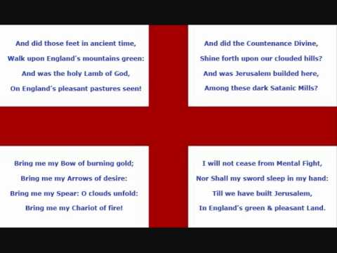 Jerusalem - National Anthem England.wmv