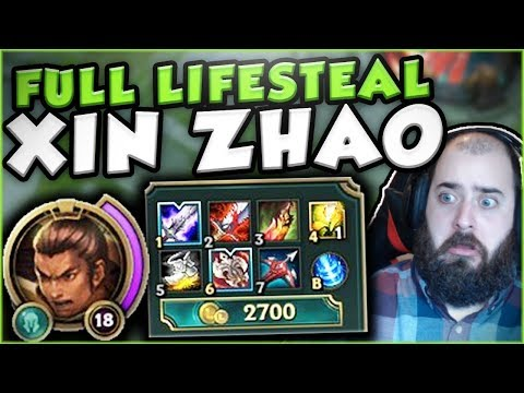 Download Youtube: HOW INSANE IS 60% LIFESTEAL ON XIN ZHAO? NEW OP XIN ZHAO TOP BUILD SEASON 7! - League of Legends