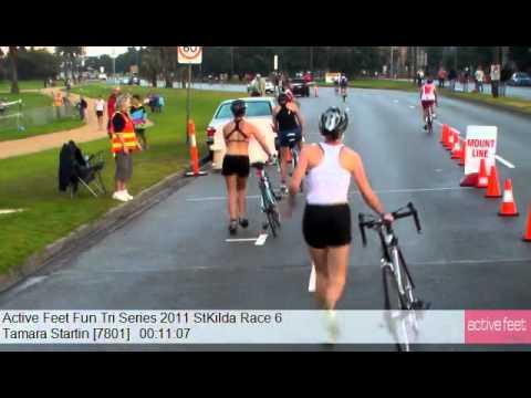 Tamara Startin 7801 Active Feet Fun Tri Series 2011 StKilda Race 6