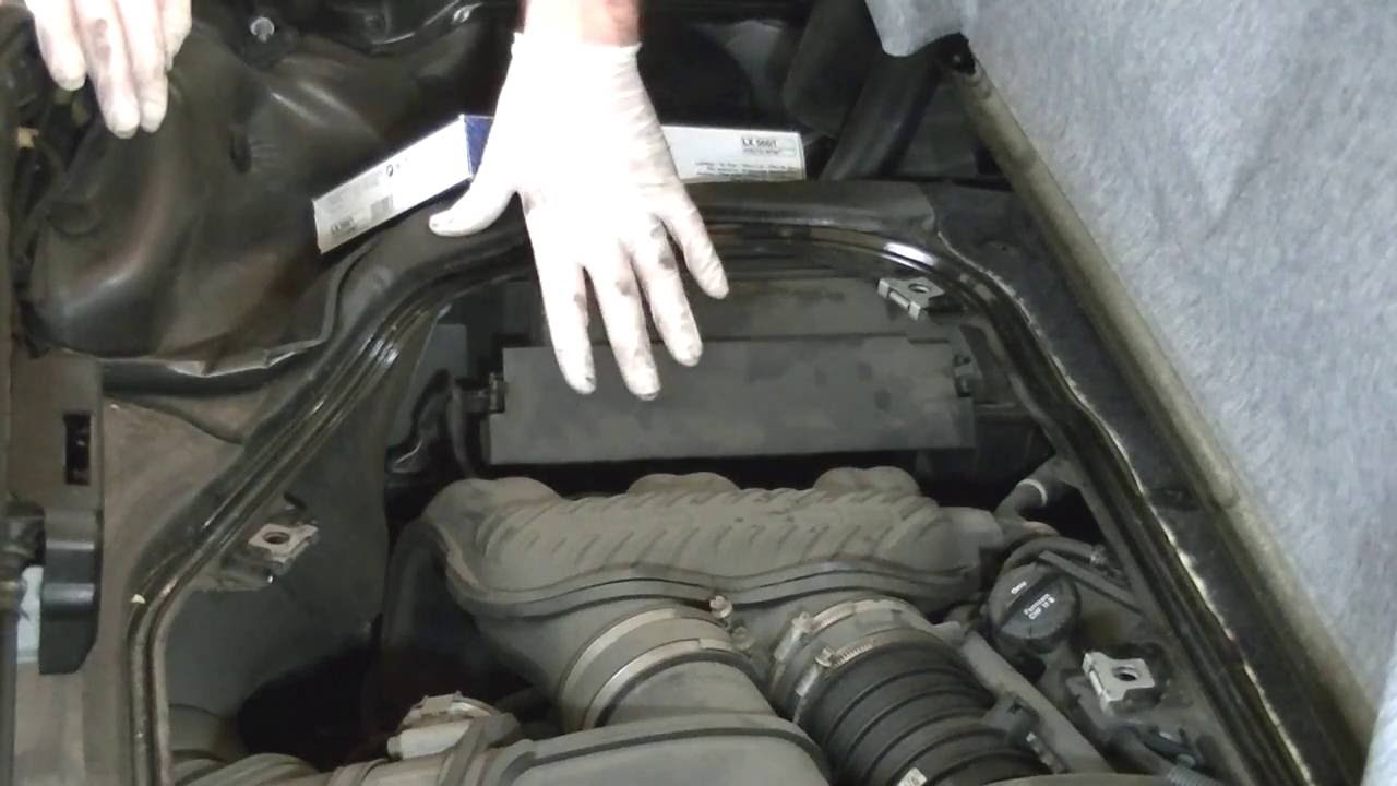 Replacing The Engine Air Filter On Porsche Boxster Youtube Fuel