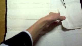 Футляр из ткани для спиц и крючков