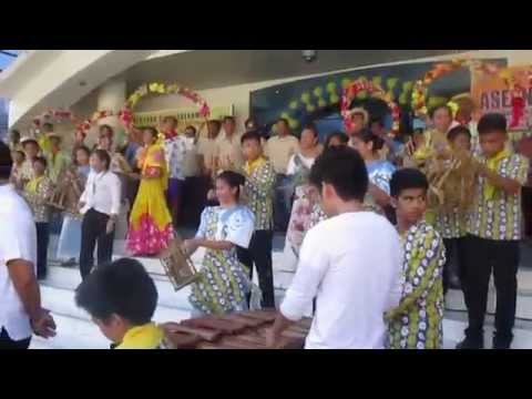 Banda Kawayan of Mandaluyong - Opening performance in blue building of mandaluyong city..