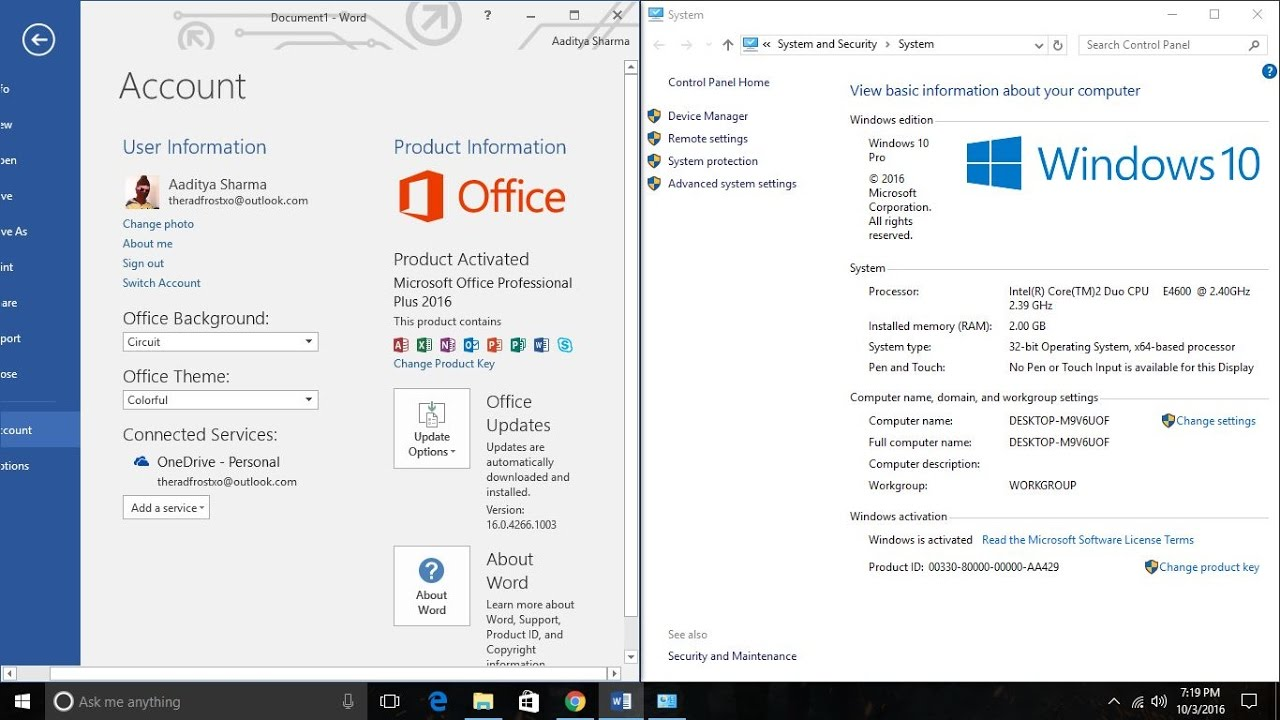 microsoft office 2016 product key lost