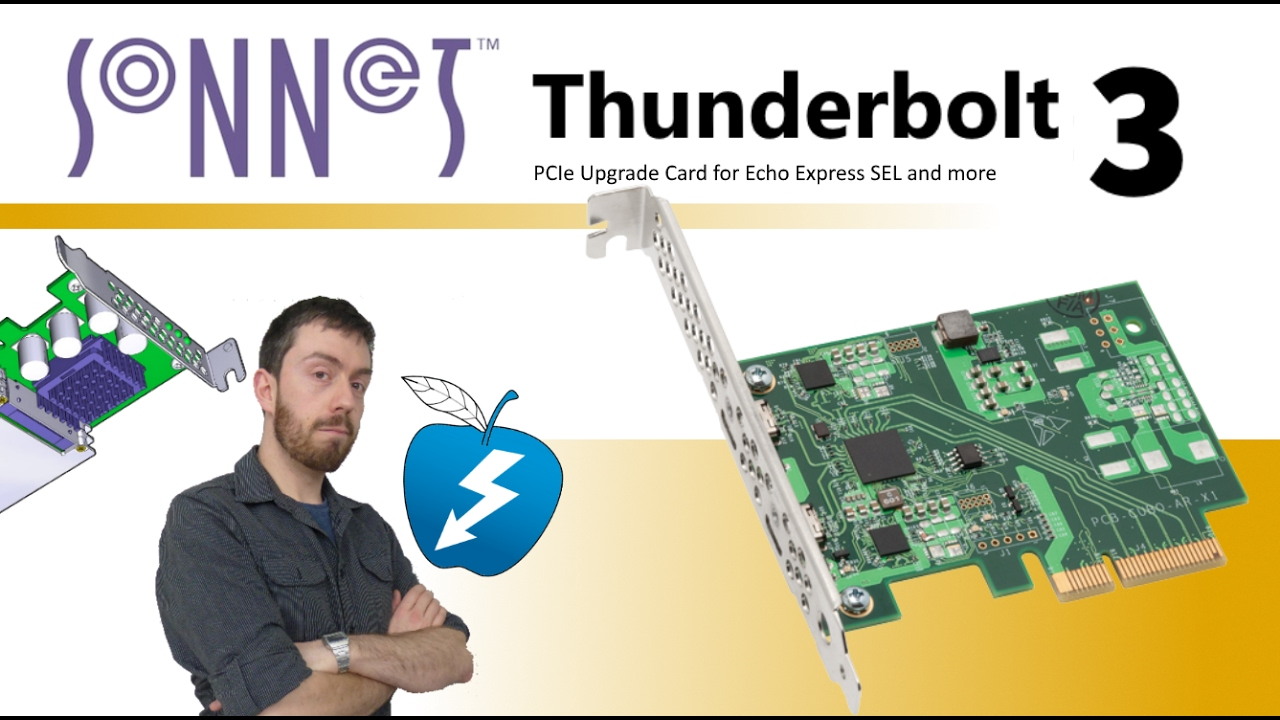 The Sonnet Thunderbolt 3 Edition PCIe Upgrade Card for the Echo Express  BRDUPGRTB3SEL, BRDUPGRTB3SE1