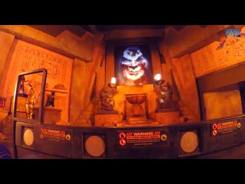 Revenge of the Mummy Roller Coaster - Lights On Backsta ...