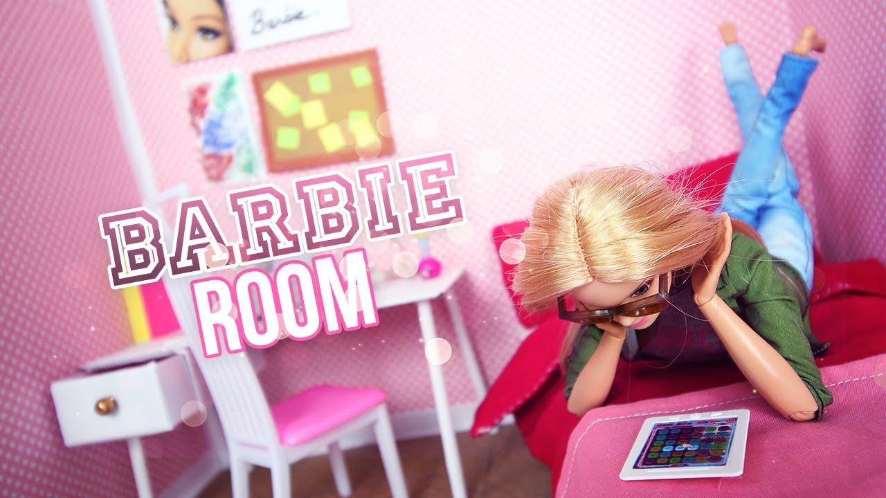 diy comment faire la chambre de barbie how to make barbie doll room youtube. Black Bedroom Furniture Sets. Home Design Ideas