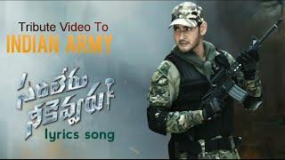 Sarileru Neekevvaru song - A Tribute To The Indian Army Mahesh Babu Rashmika