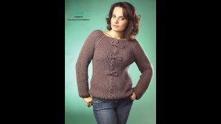 Вязание Джемпера Сверху Спицами - модели 2019 / Knitting Sweaters With Top Knitting Needles