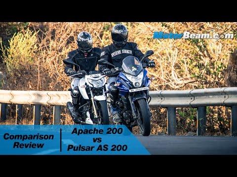 TVS Apache 200 vs Pulsar AS 200 - Comparison Review   MotorBeam