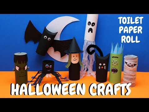 Toilet Paper Roll Halloween Crafts | Paper Roll Craft
