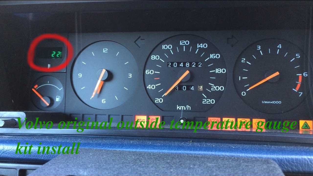 Volvo original outside temperature gauge kit install