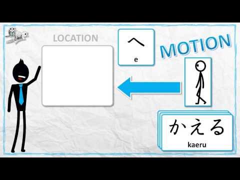 Learn Japanese Particles: Location + E/NI/DE (へ・に・で)