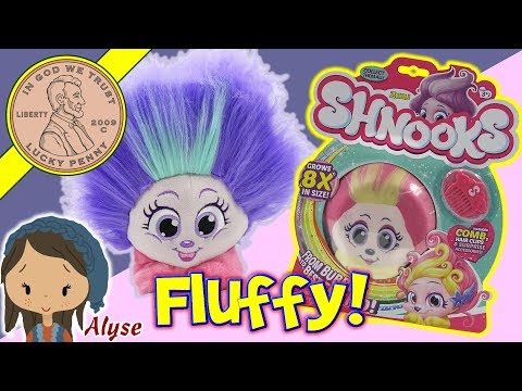 Shnooks Plush Stuffed Toy Animals - Fluffy Hair Grows 8X Its Size Kids Toy Review