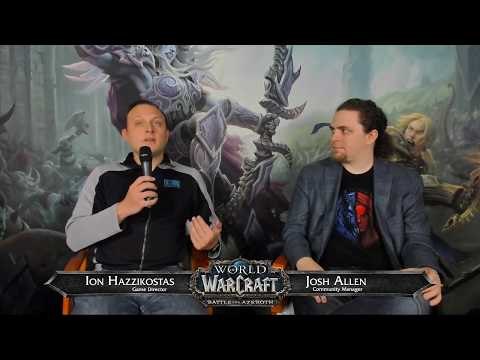 Battle for Azeroth Live Developer Q&A w/ Ion Hazzikostas 3/15/2018