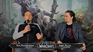 Battle for Azeroth Live Developer QA w Ion Hazzikostas 3152018