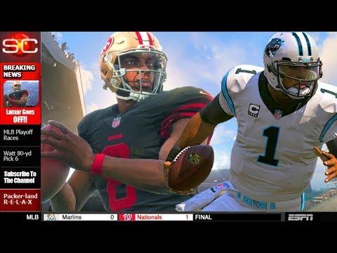 Madden 18 Career Mode - Lamar Jackson Makes It On ESPN For Overtime Scrambling TD!
