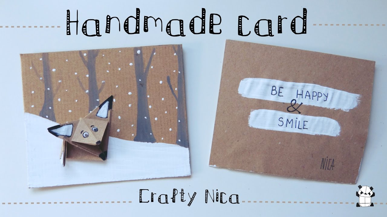 Handmade Love Card With An Origami Fox Diy Gifts For Boyfriend
