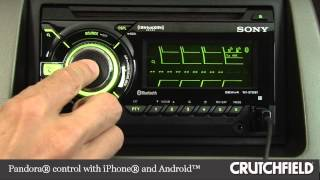 Sony WX-GT90BT Car CD Receiver Display and Controls Demo | Crutchfield Video