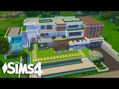 The Sims 4 - Let's Build a Modern Mansion (Part 2) Realtime