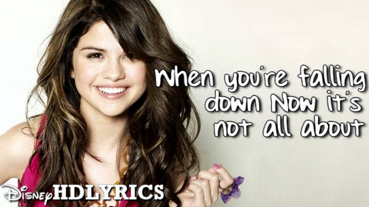Selena Gomez The Scene Falling Down Lyrics Youtube