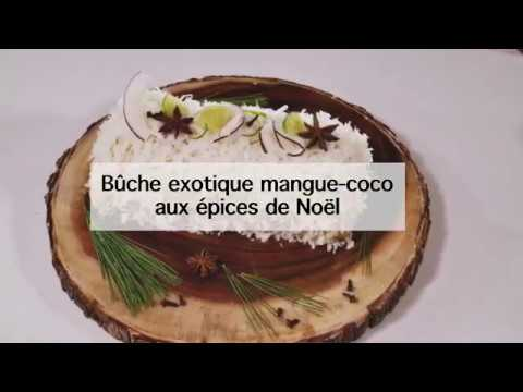 bûche-de-noël-exotique-mangue-coco-aux-épices-de-noël