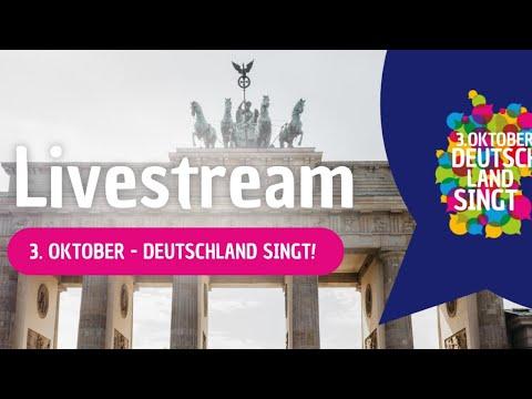 3. Oktober – Deutschland singt – der Livestream live aus Leipzig