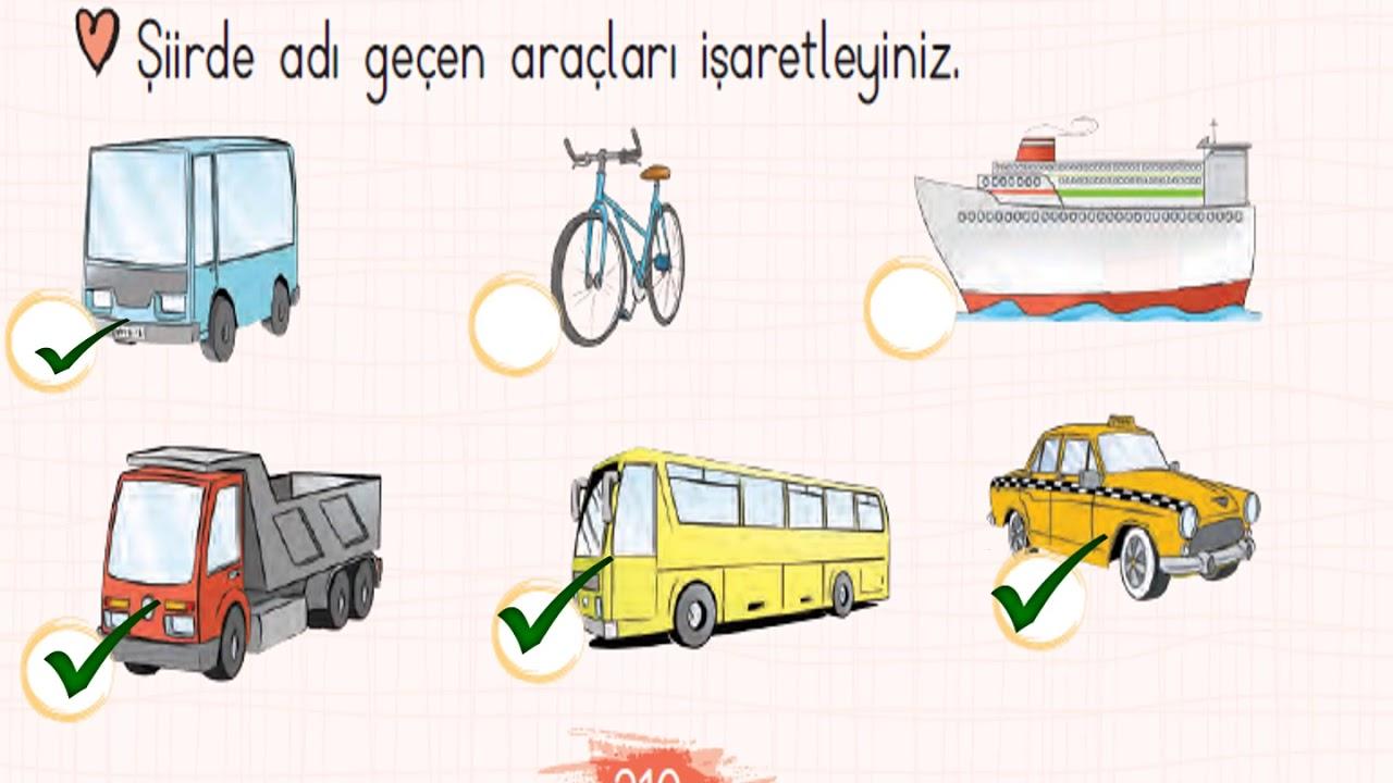 Trafik Şiiri Metni Etkinlikleri - 2. Sınıf Türkçe Dersi Konu Anlatımı