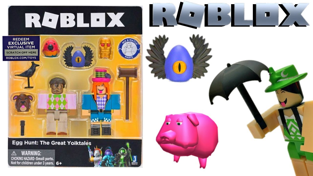 Roblox Egg Hunt Yolktales Toy & Code Item, Unboxing & Toy Review