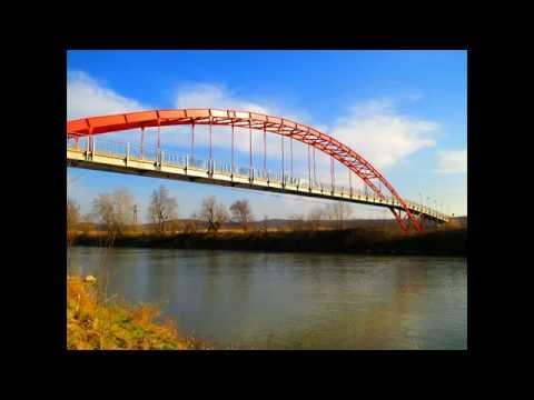 Driving in Arad county (Romania): Chelmac - Conop via the new bridge over Mureş river. Timelapse 2x