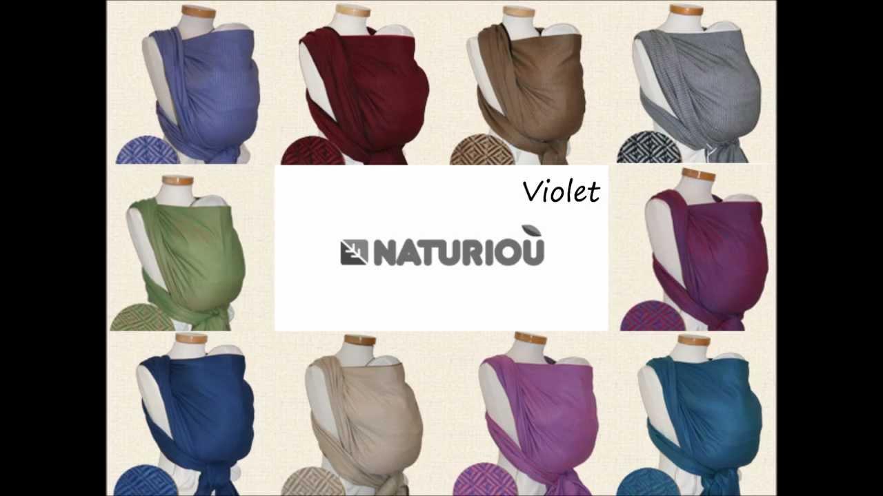 Echarpes de portage Léo de Storchenwiege chez Naturioù - YouTube 3f10b08f18a