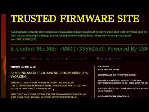 SAMSUNG SM J701F 7 0 DOWNGRADE MODEM 100% WORKING - YouTube