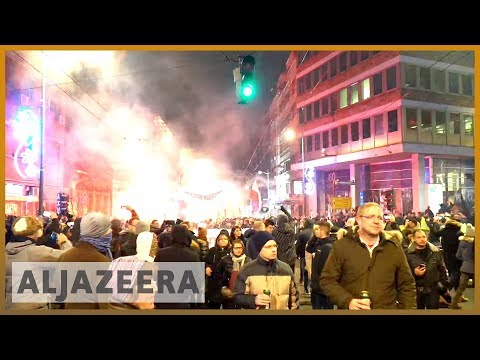 🇷🇸 Protesters push for opposition, media rights in Serbia   Al Jazeera English