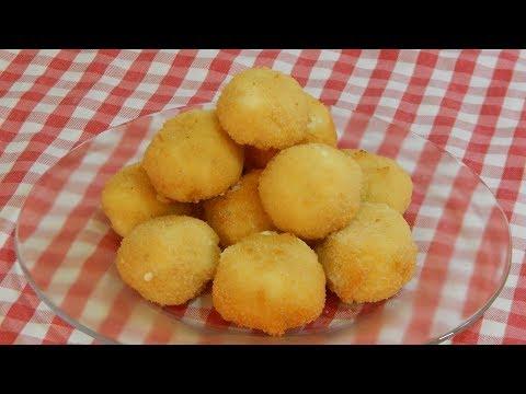 Cómo hacer bolitas crujientes rellenas de queso cremoso