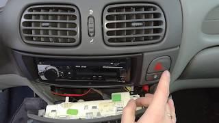 Подсветка кнопки аварийки ремонт замена лампочки в рено меган сценик