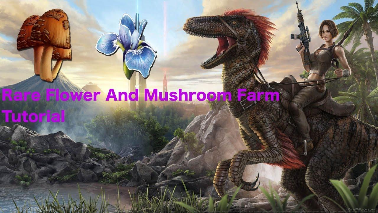 Ark Survival Evolved Rare Flower And Mushroom Farm Tutorial Easy