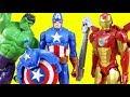 Marvel Avengers Titan Hero Series Blast Gear Iron Man Stops Thanos | Hulk & Captain America Toys