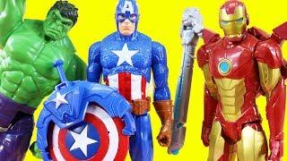 Marvel Avengers Titan Hero Series Blast Gear Iron Man Stops Thanos | Hulk