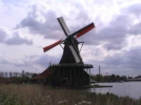 Zaanse Schans Museum of Traditional Dutch Windmills, the Netherlands (Holland)