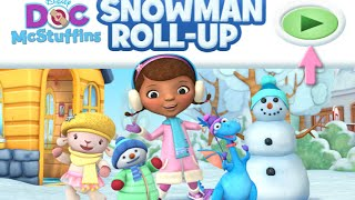 Doc's Mcstuffins Snowman Roll up Disney Junior Online Games Video Gameplay