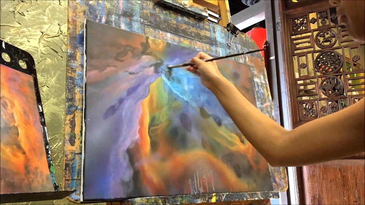 Orion Nebula - Timelapse Painting - YouTube